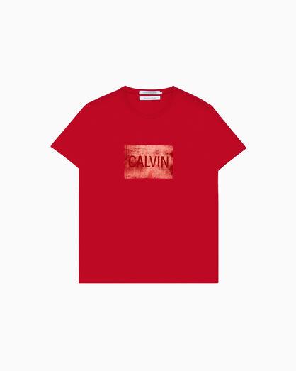 CALVIN KLEIN METALLIC LOGO BOX SLIM TEE