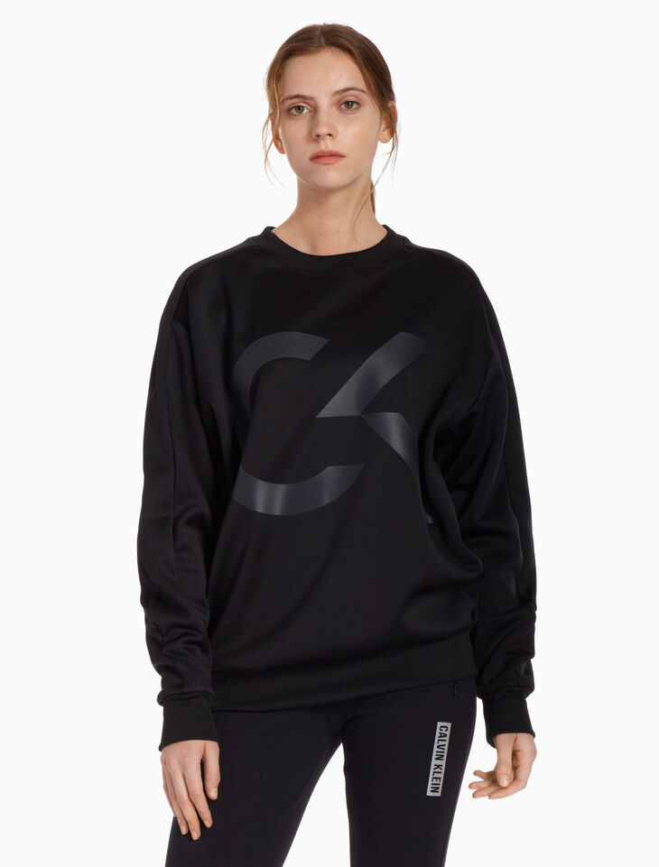 CALVIN KLEIN BIG ICON PULLOVER SWEATSHIRT