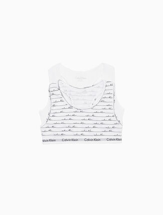 CALVIN KLEIN GIRLS MODERN COTTON 2 PACK BRALETTE