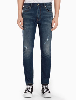 CALVIN KLEIN CKJ 025 MEN SLIM STRAIGHT COOGEE BLUE JEANS