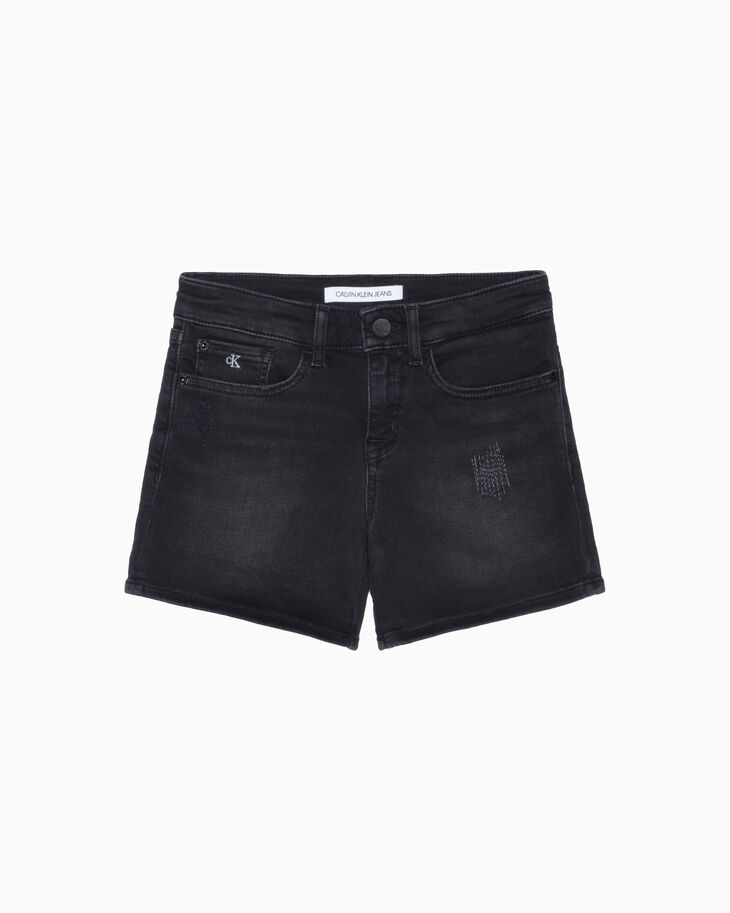 CALVIN KLEIN GIRLS SLIM DENIM SHORTS
