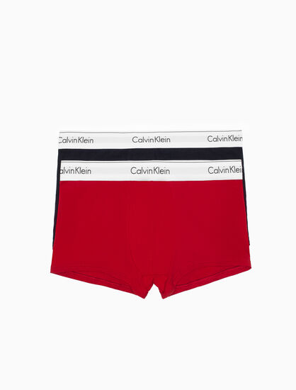 CALVIN KLEIN HOLIDAY MODERN COTTON STRETCH 2-PACK TRUNKS