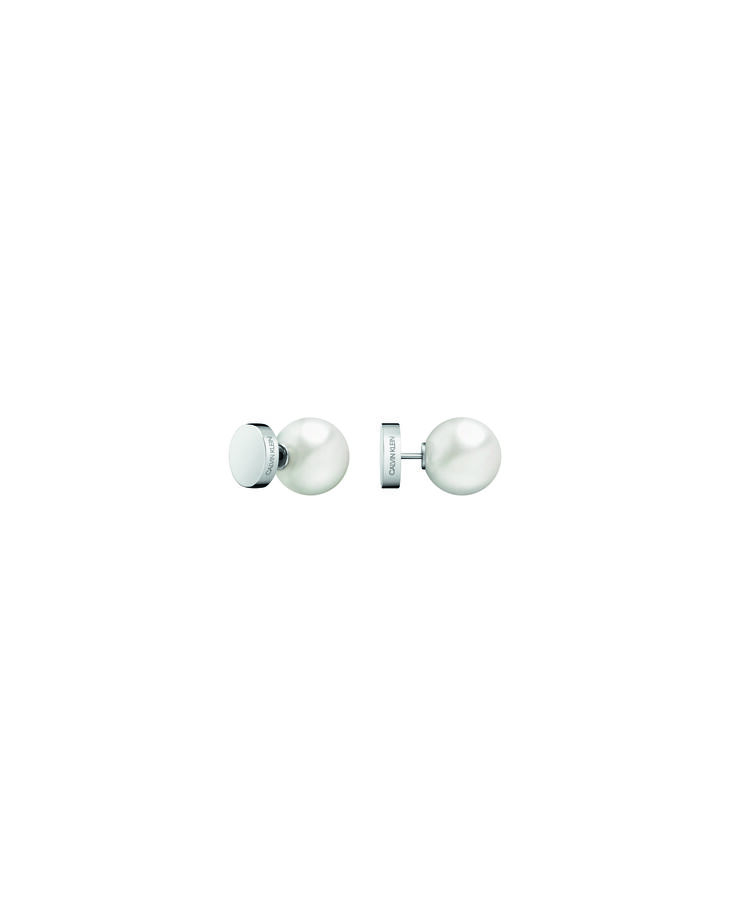 CALVIN KLEIN BUBBLY GOLD PEARL STUD EARRINGS