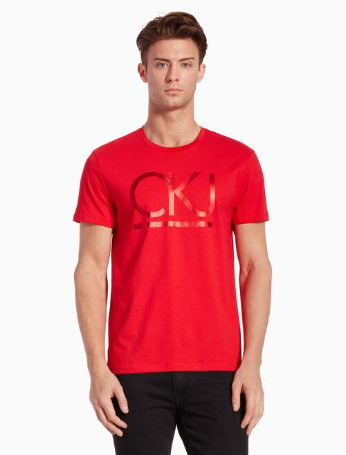 CALVIN KLEIN KNIT PIMA COTTON LOGO 티셔츠