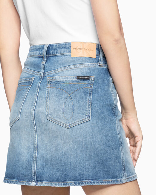 CALVIN KLEIN HIGH RISE DENIM 미니 스커트