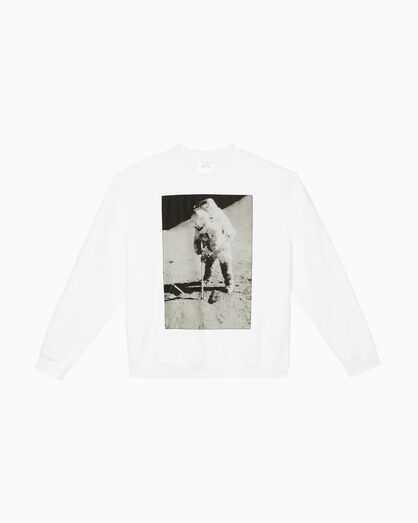 CALVIN KLEIN MOON LANDINGS CREWNECK GRAPHIC SWEATSHIRT