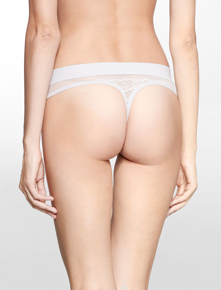 CALVIN KLEIN CK BLACK LOGO ELECTRIC THONG