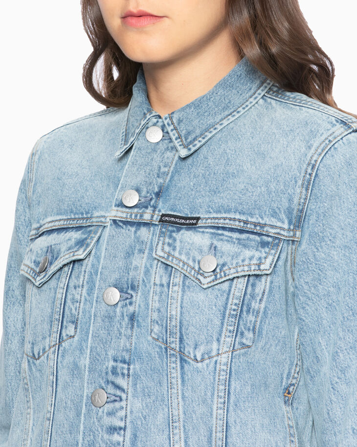 CALVIN KLEIN FOUNDATION  WESTERN TRUCKER DENIM JACKET
