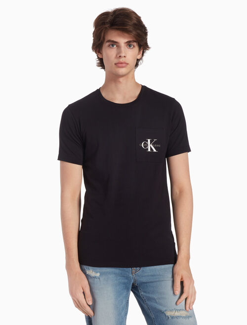 CALVIN KLEIN MONOGRAM POCKET スリム T シャツ