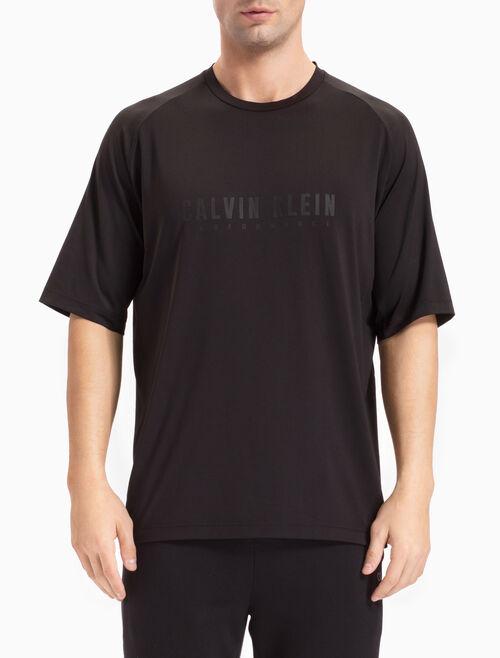 CALVIN KLEIN ミッド丈グランスリーブのロゴ入り T シャツ