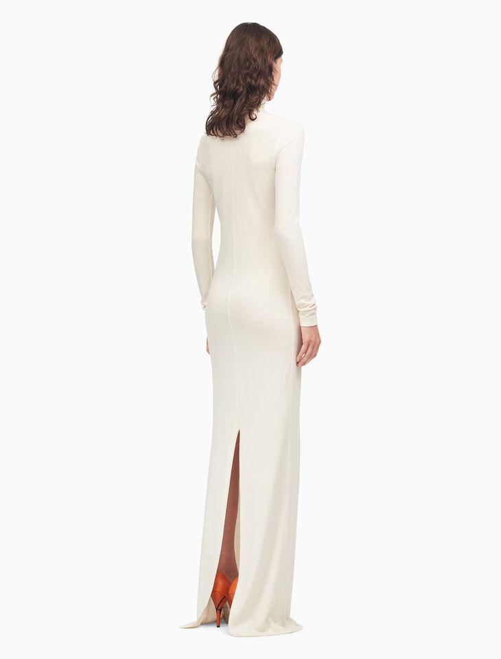 CALVIN KLEIN 高領長裙(羊毛雙羅紋平織布)