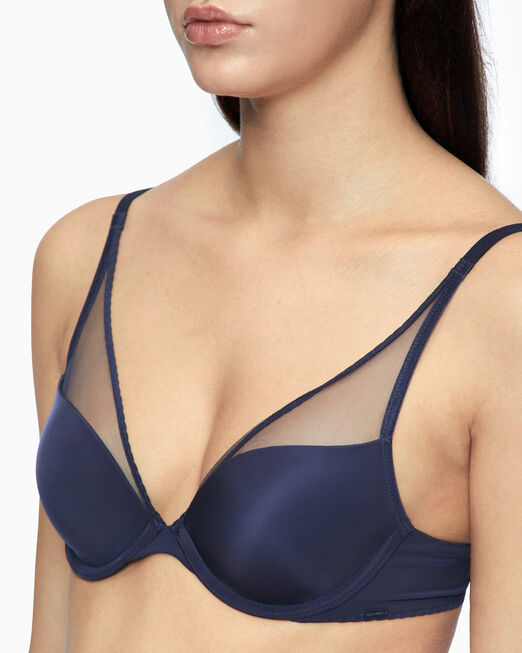 CALVIN KLEIN CK BLACK PUSH UP PLUNGE 브라