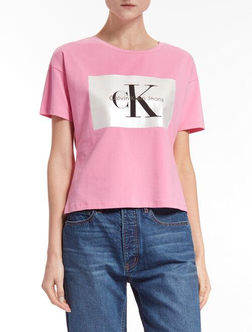 CALVIN KLEIN Tecara モノグラムロゴ T シャツ