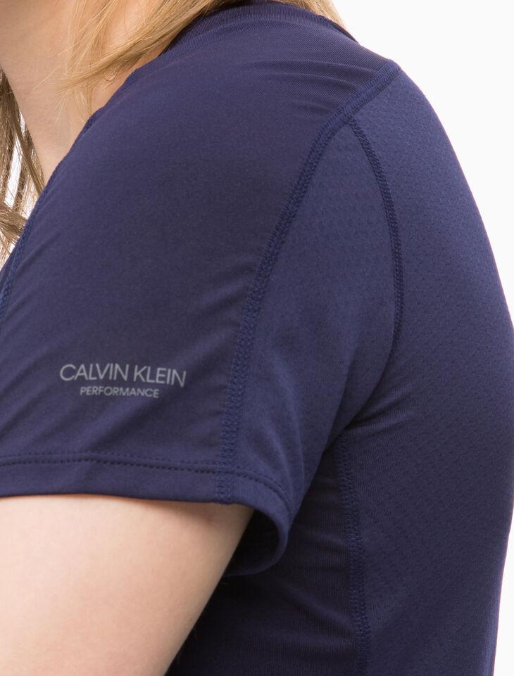 CALVIN KLEIN 메시 패널 반소매 티셔츠