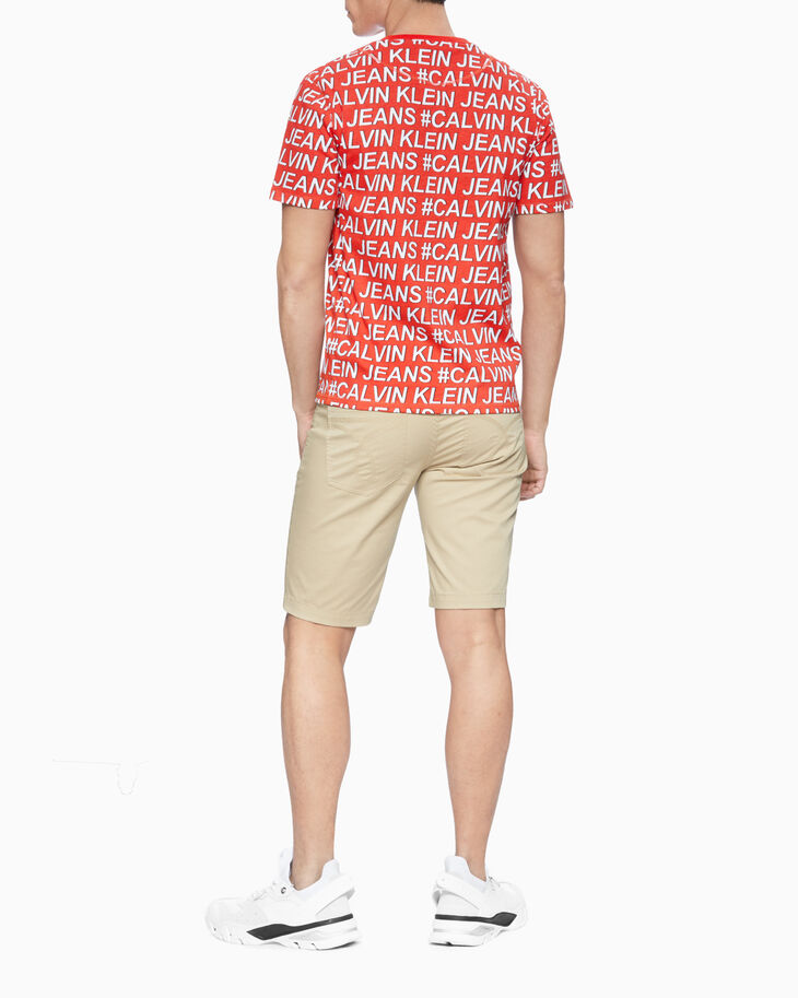 CALVIN KLEIN ALL-OVER LOGO PRINT TEE