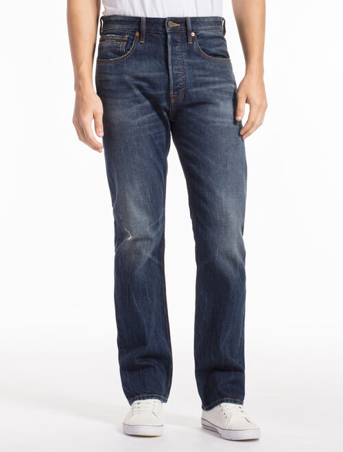CALVIN KLEIN PHOENIX BLUE HIGH STRAIGHT JEANS