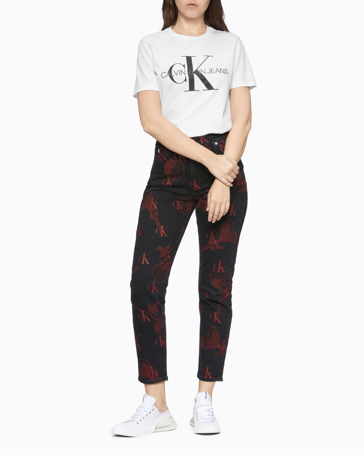 CALVIN KLEIN CK ONE ALL OVER PRINT ママジーンズ