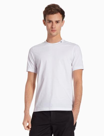 CALVIN KLEIN 자수 로고 칼라 티셔츠
