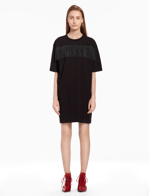 CALVIN KLEIN Fringe t-shirt dress