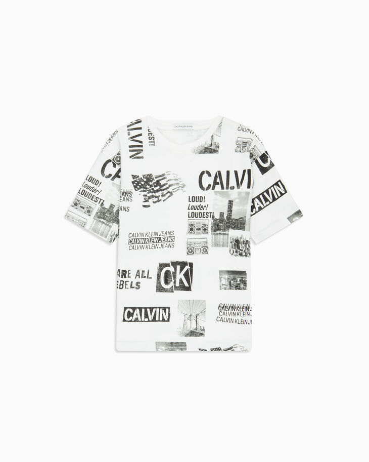 CALVIN KLEIN BOYS ALL OVER PUNK PRINT TEE