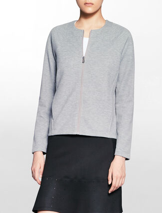CALVIN KLEIN OVERLAPPED BACK SWEAT JACKET