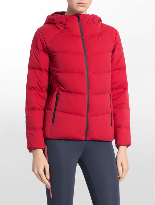 CALVIN KLEIN WIDE NECK DOWN JACKET WITH HOOD