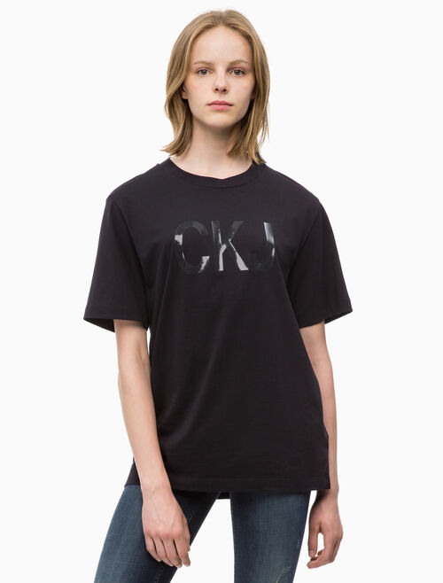 CALVIN KLEIN VINYL PRINT リラックスTシャツ
