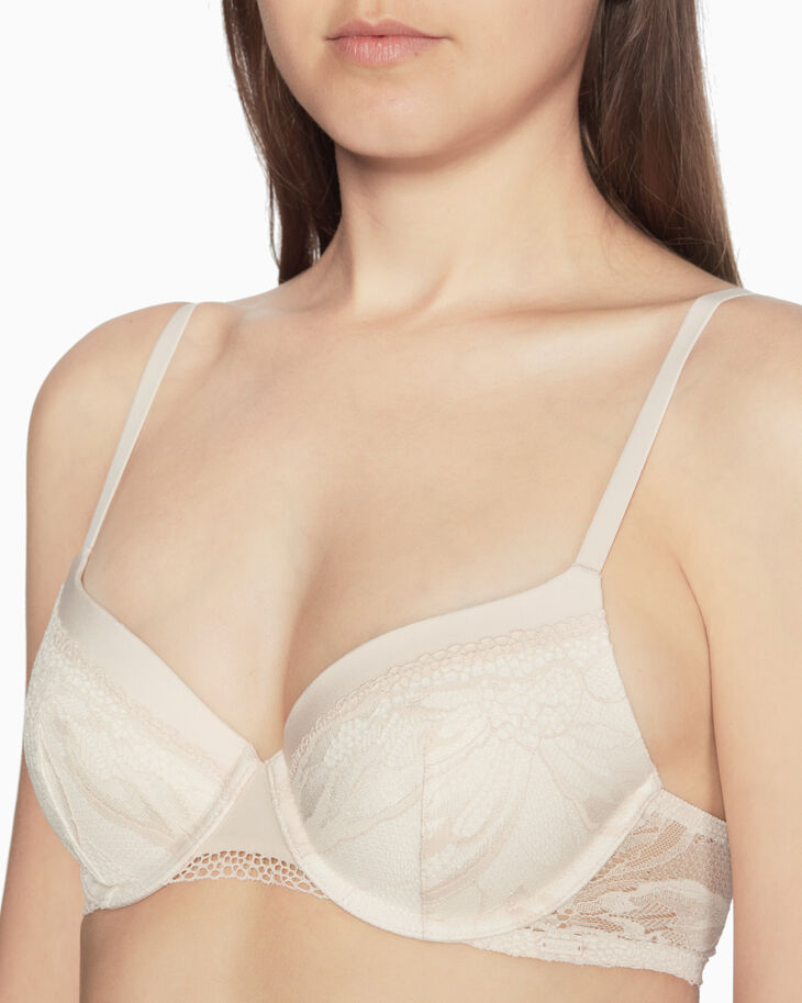 CALVIN KLEIN PETAL LACE LIGHTLY LINED BRA
