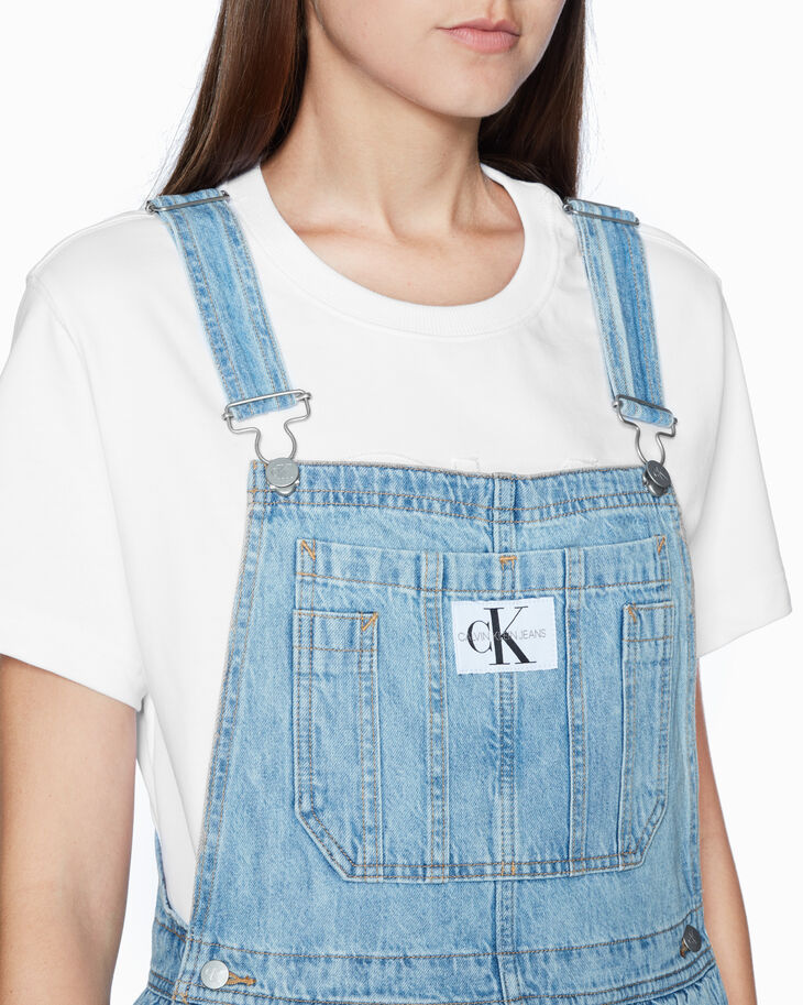 CALVIN KLEIN ARCHIVE ICONS DUNGAREE 맥시 드레스