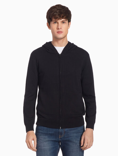 CALVIN KLEIN KNIT HOODED JACKET