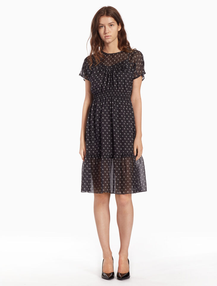 CALVIN KLEIN WOVEN WESTERN SEAM DRESS