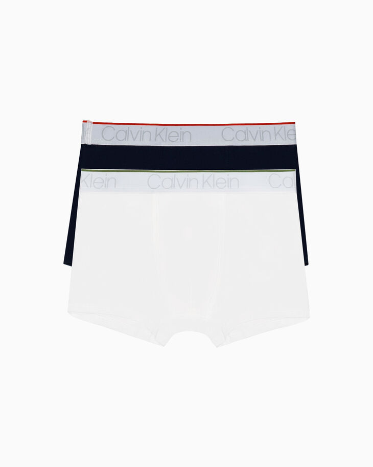 CALVIN KLEIN BOYS 2 PACK COTTON STRETCH TRUNKS