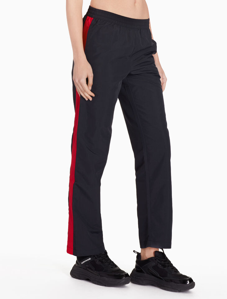 CALVIN KLEIN WOVEN COLOR TAPE PANTS