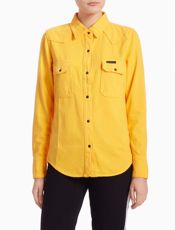 a8be0401d37 Calvin Klein Jeans Mens Long Sleeve Basic Denim Shirt M- Pick SZ  Color