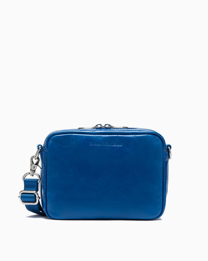CALVIN KLEIN PAPER LEATHER CROSSBODY BAG - SMALL