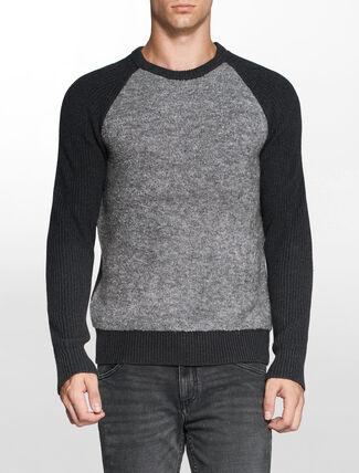 CALVIN KLEIN カラーブロックミックスメディアセーター