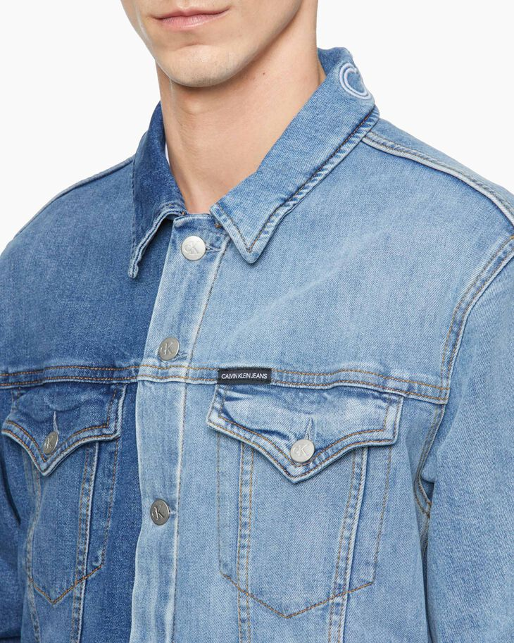 CALVIN KLEIN PATCHWORK DENIM SLIM TRUCKER