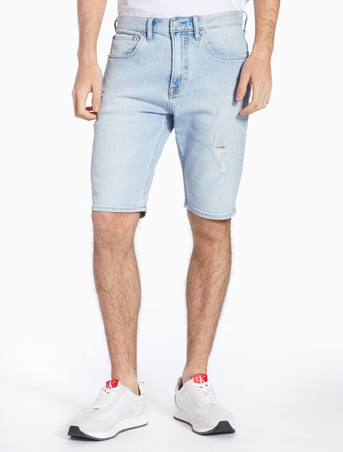 CALVIN KLEIN DISTRESSED TAPERED SHORTS