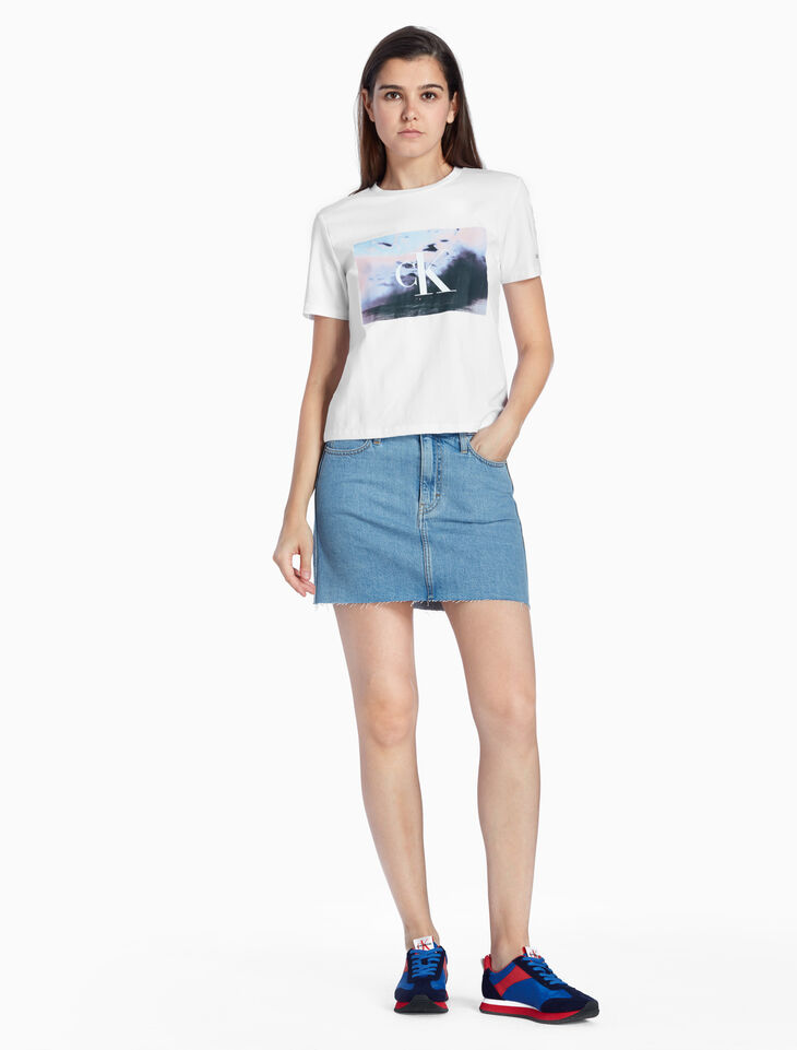 CALVIN KLEIN MONOGRAM PHOTO PRINT TEE
