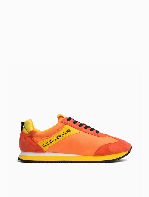 CALVIN KLEIN 尼龍麂皮運動鞋