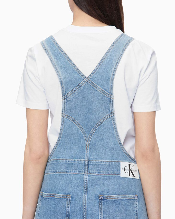 CALVIN KLEIN SUSTAINABLE ICONS OVERALL DRESS