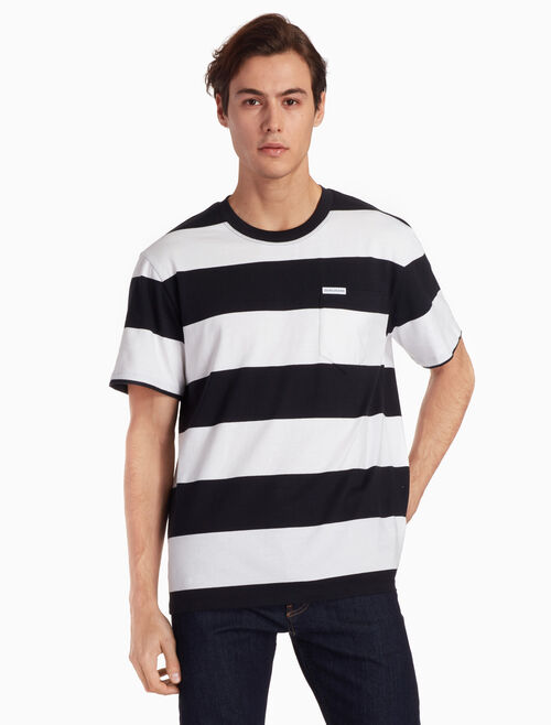 CALVIN KLEIN STRIPED CREW TEE