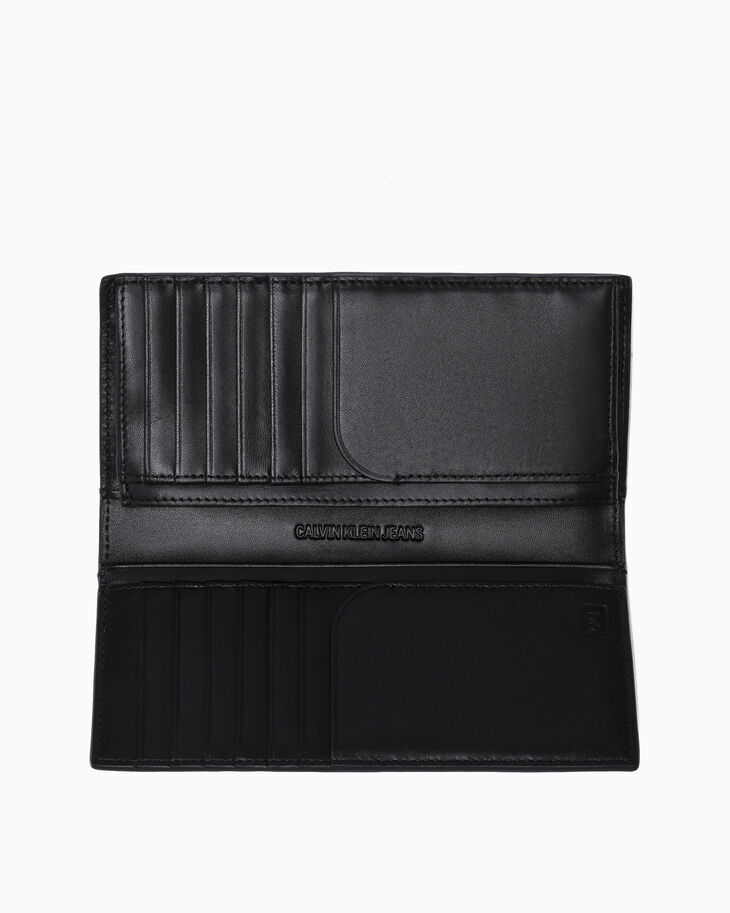 CALVIN KLEIN MICRO PEBBLE LONG FOLD WALLET