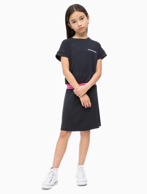 CALVIN KLEIN GIRLS ELASTIC WAISTBAND DRESS