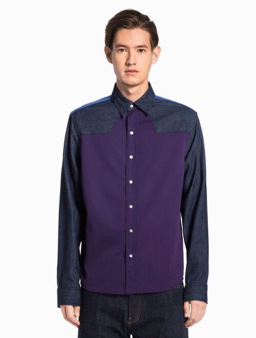 CALVIN KLEIN COLOR BLOCK ARCHIVE WESTERN SHIRT