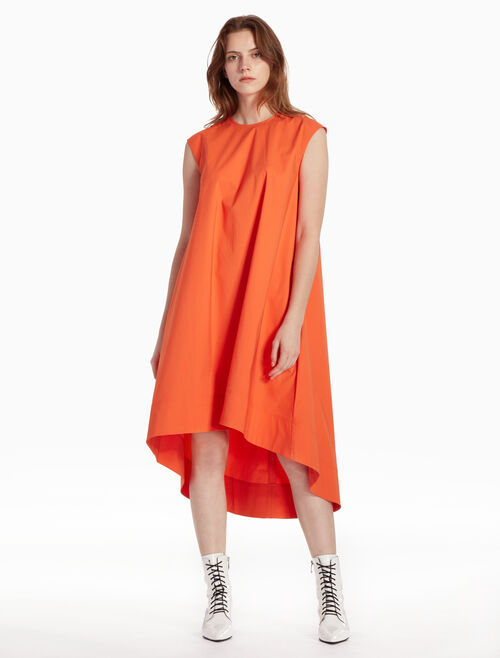 CALVIN KLEIN SOAPY 斜紋無袖連衣裙