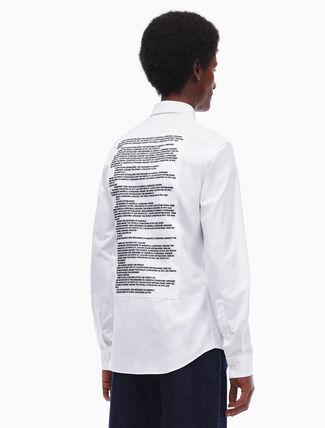 CALVIN KLEIN slim fit embroidered shirt