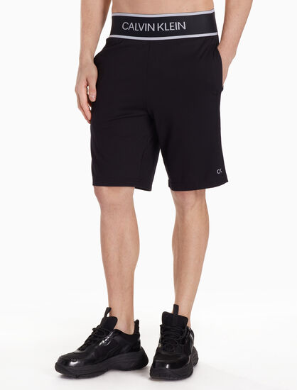 CALVIN KLEIN KNIT SHORTS WITH LOGO WAISTBAND