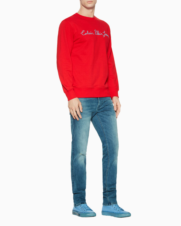 CALVIN KLEIN CALLIGRAPHIC LOGO 스웨트셔츠