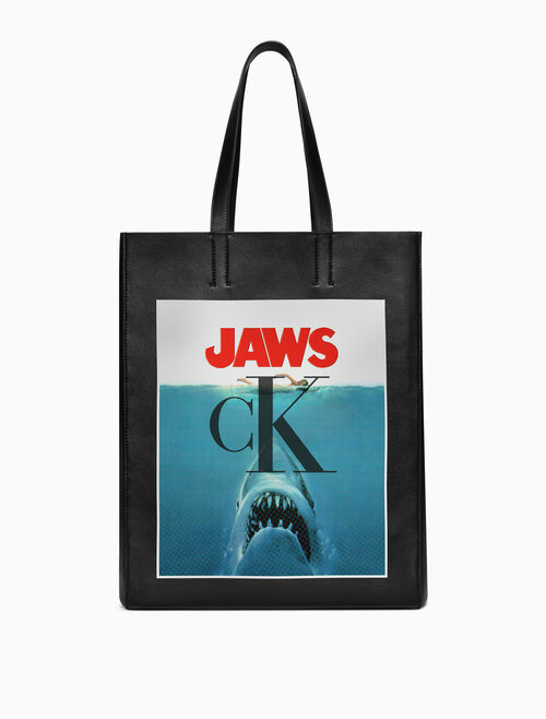CALVIN KLEIN TOTE X JAWS IN NAPPA LEATHER